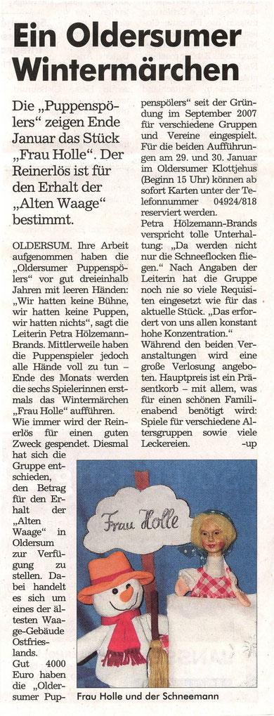 """""""Der Wecker"""" 9.01.2011"""