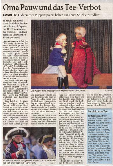 Ostfriesen-Zeitung vom 20.08.2012