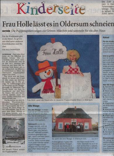 Ostfriesen-Zeitung vom 13.01.2011