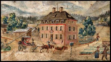 Bayrische Zollamt Walserberg bei Bad Reichenhall 1802