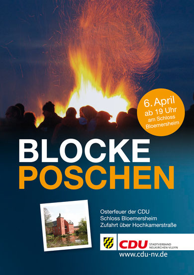 Blocke Poschen - Osterfeuer der CDU 06.04.2013 - Schloss Bloemersheim/Zufahrt über Hochkamerstraße