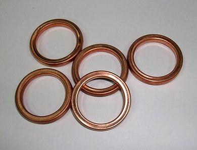 Juntas del codo de escape típica de ciclomotores ducati 30 mm Ø