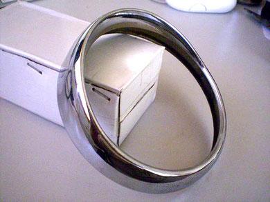 Bisel cromado Hensev con visera, de 120 mm Ø en perfecto estado