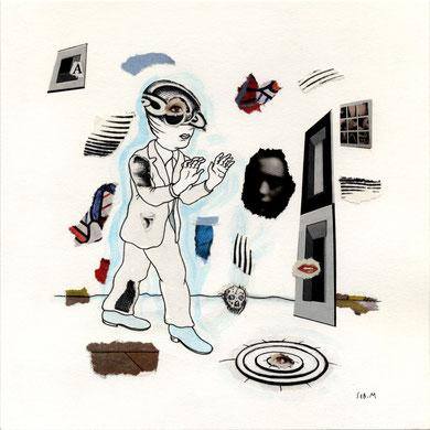 SEB. M : Premier dessin pour L'Enfui tourne court de René Daumal. Premier état.