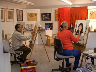 Kunstschule Neustadt, Portrait zeichnen und malen
