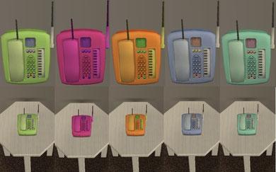 Téléphone 5 couleurs