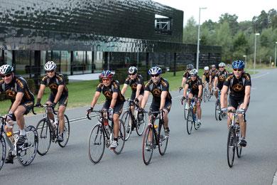Die Radsportgruppe unterwegs