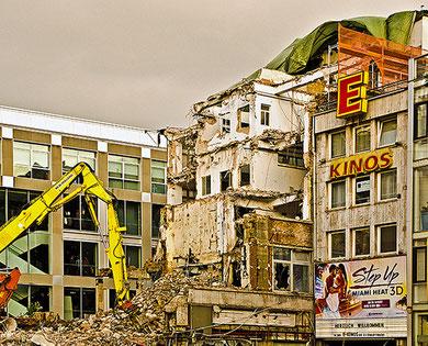 Abrissgebäude in Frankfurt