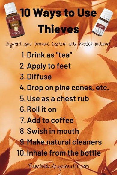 10 Ways to Use Thieves: Support Your Immune System With Autumn in a Bottle