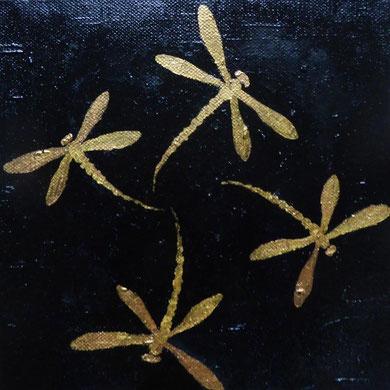 Golden, Öl auf Leinwand, 20x20 cm, 90 €