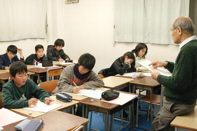 みんな真剣に中学1年生の勉強に取り組んでます!「正負の数」を勉強中