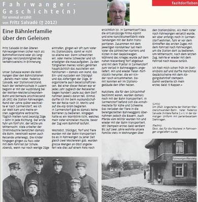 Verkehrsverein Fahrwangen - Fahrwanger Geschichten