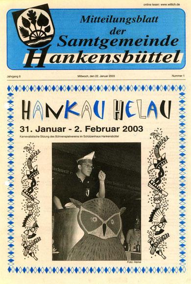 Titelblatt mit Bild von 2002