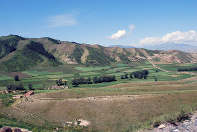 Landscape in close to Urumqi city, Xinjiang, China. Photo by K. Suzuki.