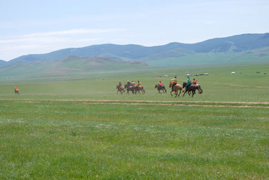 """The Nadaam festival"" in central west of Mongolia. Photo by K. Suzuki."