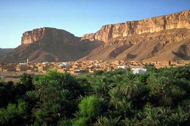 Wadi Dawan is a town and desert valley in central Yemen. Located in the Hadhramaut Governorate, it is noted for its mud brick buildings.