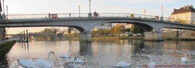 Pont Maunoury en 2011. A l'arrière, le pont Joffre.