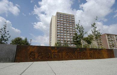 Das Salzstraßenband West,Kreutzt die  Stuttgarter Allee