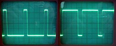 Aucun réglage pour le Pulse. Vérifier juste que le contrôle de la largeur d'impulsion fonctionne bien (il est normal que le signal disparaisse à 0 ou 100%).
