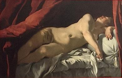 7. « Femme nue allongée », Attribué à Charles Mellin, vers 1627-1630, Cahors, Musée Henri-Martin. Photo : Didier Rykner (source : latribunedelart.com)