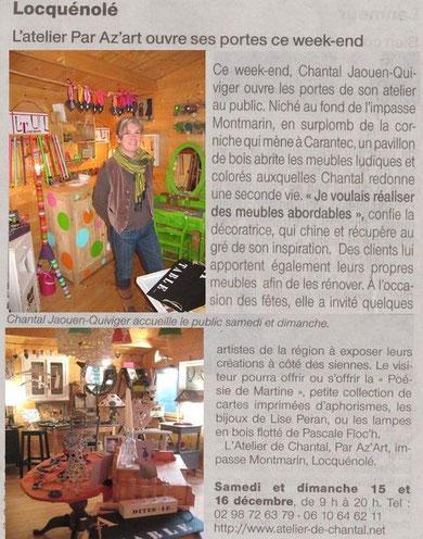 Ouest-France 16 décembre 2012