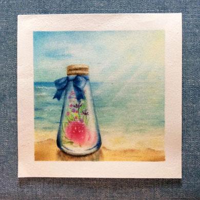 アトリエ絵くぼのパステルアート ハーバリウム 海
