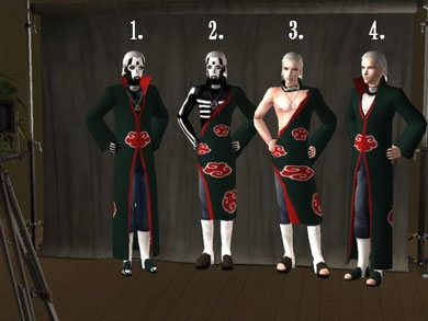 The number 3. Hidan has a Jashin nacklace and will need a mesh  :(
