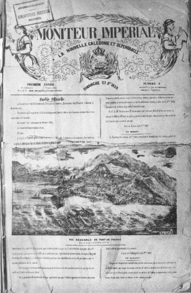 D03 - Le Moniteur Impérial de la Nouvelle-Calédonie et Dépendances du 27 novembre 1859