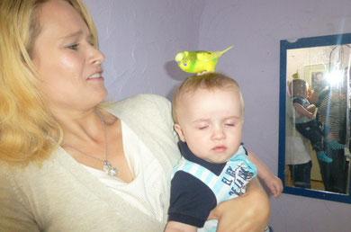 Ein unerschrockenes Kind :-) Aber die Mama war sehr erschrocken Hahaha