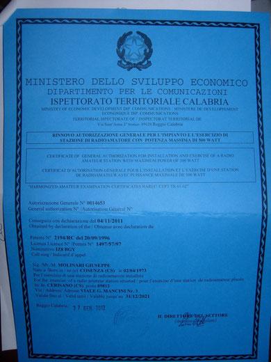 Ennesimo rinnovo della licenza