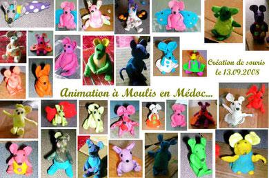 """Animation """"souris en pâte"""" à Moulis en Médoc (2008)"""