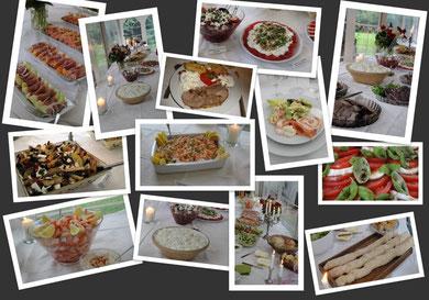 Les petits plats dans les grands...un buffet impressionnant,  tout en couleurs