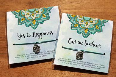 Bracelet réalisant les voeux de bonheur