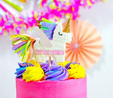 Décoration de licorne pour gâteau