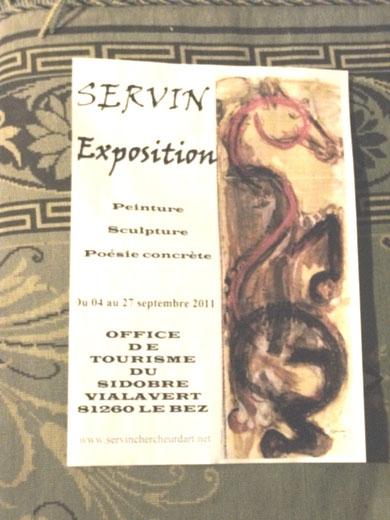 Affiche expo SERVIN dans le Sidobre