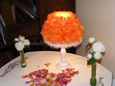 LA020 Lampada Shabby Chic - € 65,00 - altezza cm. 38