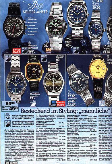 Angebotsseite im Quelle Katalog 1980