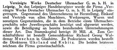 Deutsche Uhrmacher-Zeitung am 06.01.1923