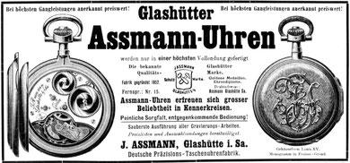 Neue Werbeanzeige ab 1. August 1912