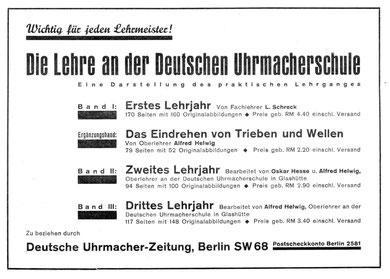 Die Lehre an der DUS UZ 1932 Nr. 28AZ
