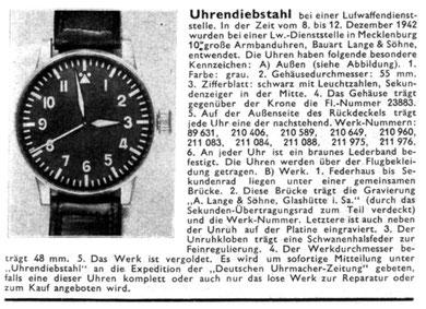 Quelle: Deutsche Uhrmacher-Zeitung Nr. 09/10 vom 27. Jan. 1943 S. 49