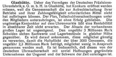 Veröffentlichung in den Müglitztal-Nachrichten am 20.Juni 1925