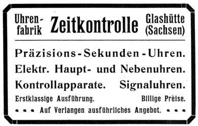 Allgemeines Journal der Uhrmacherkunst Nr. 15 v. 1. Sept. 1919 Anzeigenteil