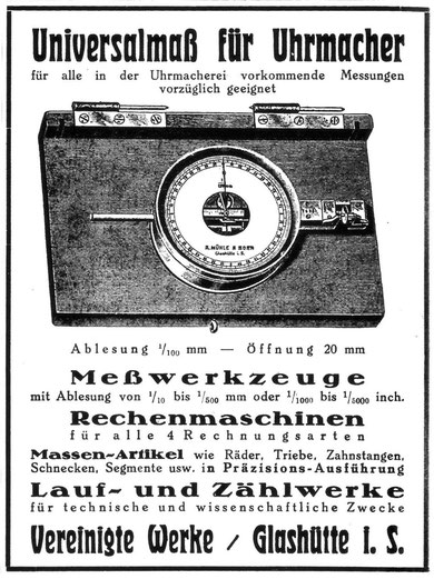 Entgegen anders lautender Veröffentlichungen gab es in den Vereinigten Werken in Glashütte keine Uhrenfertigung.