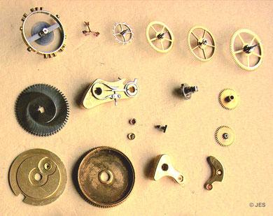 Werkbestandteile  Kaliber 43 Typ 3