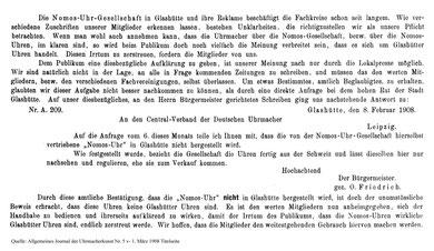AJU März 1908