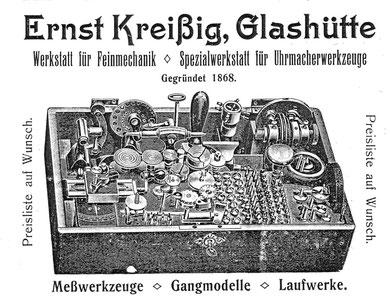 Werbung der Firma 1911