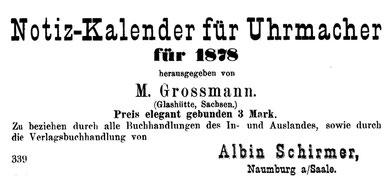 Anzeige im AJU 1877 [4]