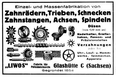 Werbung in der Deutschen Uhrmacher-Zeitung 1928