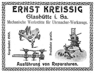 Firmenwerbung im Saxonia Heft  Nr.2 aus dem Jahr 1905